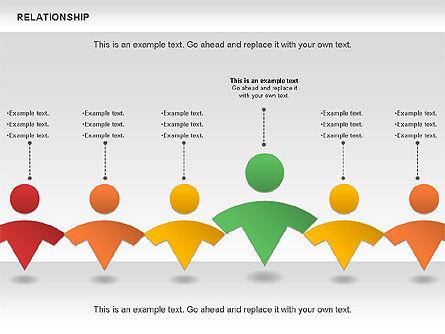 Relationship Diagram, Slide 11, 01104, Business Models — PoweredTemplate.com
