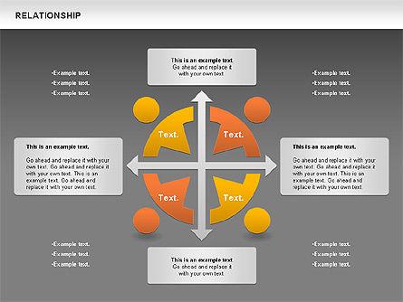 Relationship Diagram, Slide 12, 01104, Business Models — PoweredTemplate.com