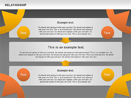 Relationship Diagram, Slide 13, 01104, Business Models — PoweredTemplate.com