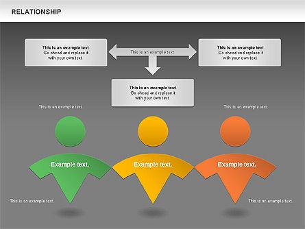 Relationship Diagram, Slide 14, 01104, Business Models — PoweredTemplate.com