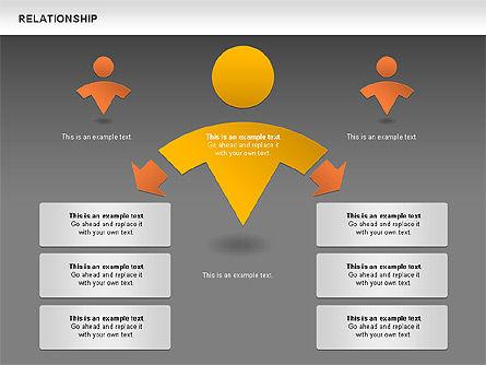 Relationship Diagram, Slide 15, 01104, Business Models — PoweredTemplate.com