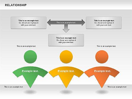 Relationship Diagram, Slide 3, 01104, Business Models — PoweredTemplate.com