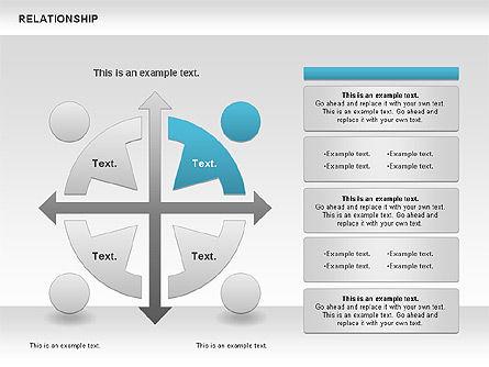 Relationship Diagram, Slide 4, 01104, Business Models — PoweredTemplate.com