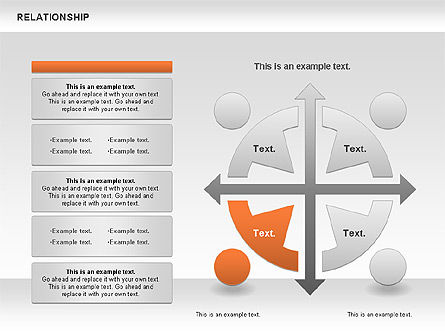 Relationship Diagram, Slide 6, 01104, Business Models — PoweredTemplate.com