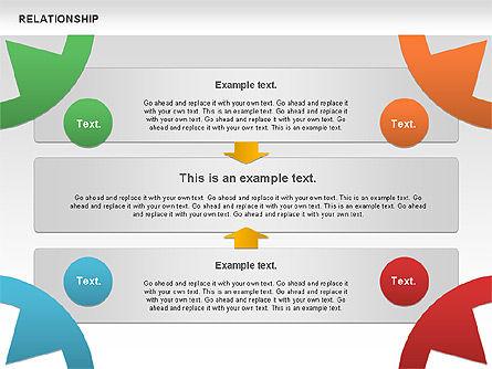 Relationship Diagram, Slide 9, 01104, Business Models — PoweredTemplate.com