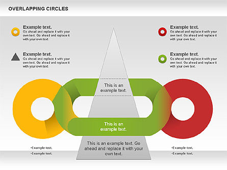 Overlapping Colors Diagram, 01106, Business Models — PoweredTemplate.com