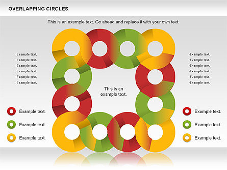 Overlapping Colors Diagram, Slide 11, 01106, Business Models — PoweredTemplate.com