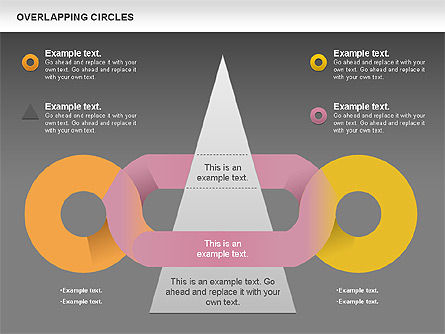 Overlapping Colors Diagram, Slide 14, 01106, Business Models — PoweredTemplate.com