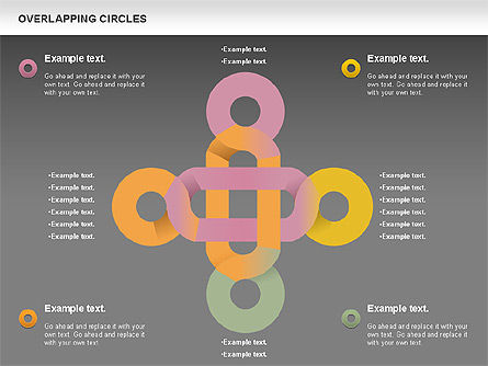 Overlapping Colors Diagram, Slide 16, 01106, Business Models — PoweredTemplate.com