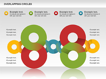 Overlapping Colors Diagram, Slide 4, 01106, Business Models — PoweredTemplate.com
