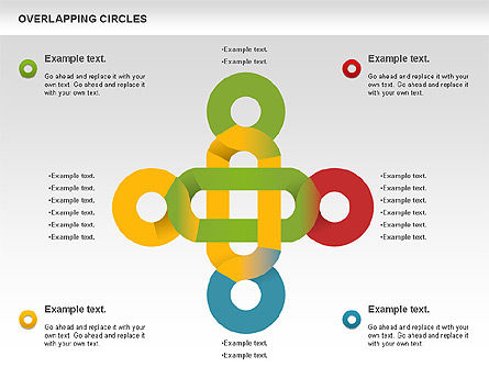 Overlapping Colors Diagram, Slide 6, 01106, Business Models — PoweredTemplate.com