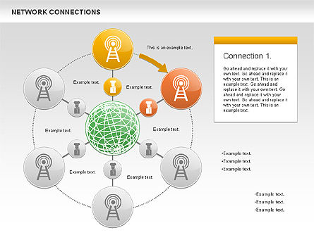Cellular Network Diagram, Slide 2, 01109, Business Models — PoweredTemplate.com