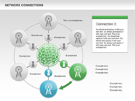 Cellular Network Diagram, Slide 4, 01109, Business Models — PoweredTemplate.com