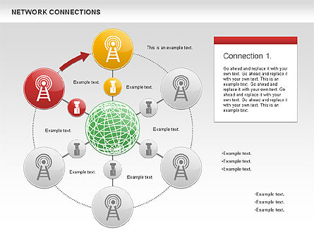 Cellular Network Diagram, Slide 7, 01109, Business Models — PoweredTemplate.com
