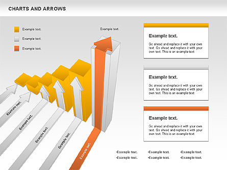 Charts and Arrows Set, 01110, Shapes — PoweredTemplate.com