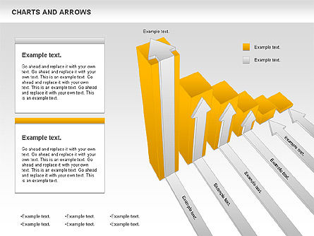 Charts and Arrows Set, Slide 4, 01110, Shapes — PoweredTemplate.com