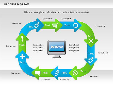 Online Purchase Process Model, Slide 4, 01112, Process Diagrams — PoweredTemplate.com