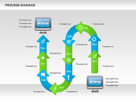 Online Purchase Process Model, Slide 5, 01112, Process Diagrams — PoweredTemplate.com