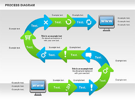 Online Purchase Process Model, Slide 8, 01112, Process Diagrams — PoweredTemplate.com