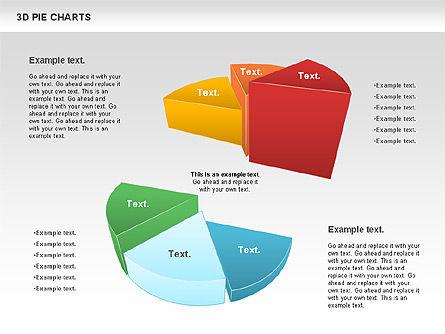 3D Pie Chart, Slide 3, 01114, Pie Charts — PoweredTemplate.com