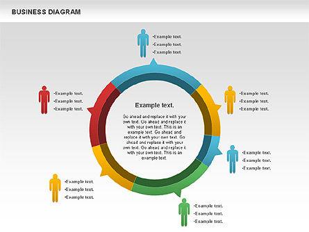 Marketing Report Diagram, Slide 4, 01118, Business Models — PoweredTemplate.com