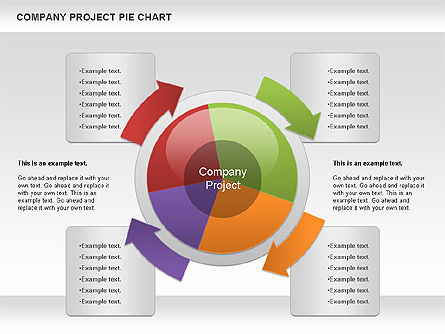 Pie Charts: Company Project Diagram #01120