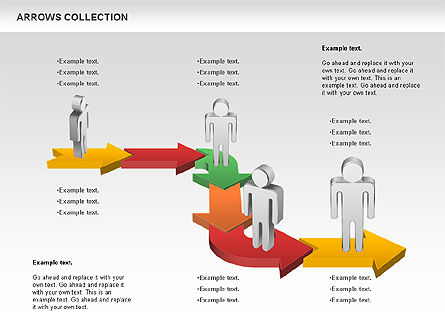 Arrows Process Diagram, 01121, Process Diagrams — PoweredTemplate.com