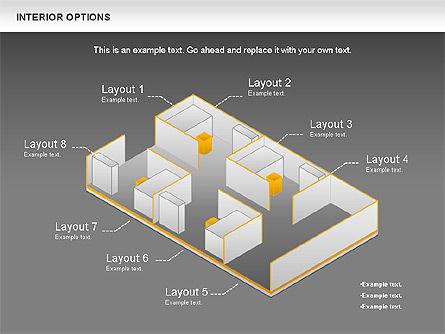 Interior Options Diagram, Slide 12, 01123, Business Models — PoweredTemplate.com