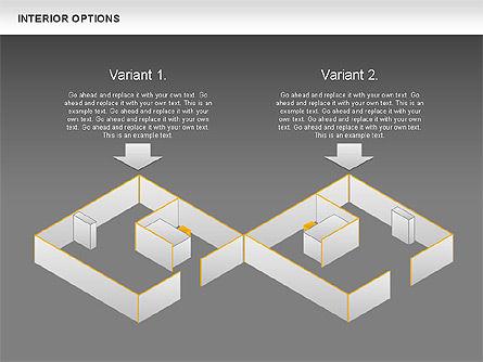 Interior Options Diagram, Slide 14, 01123, Business Models — PoweredTemplate.com