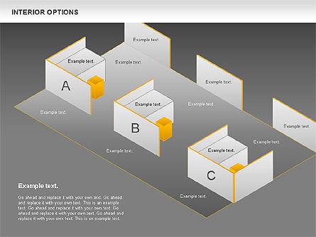 Interior Options Diagram, Slide 16, 01123, Business Models — PoweredTemplate.com