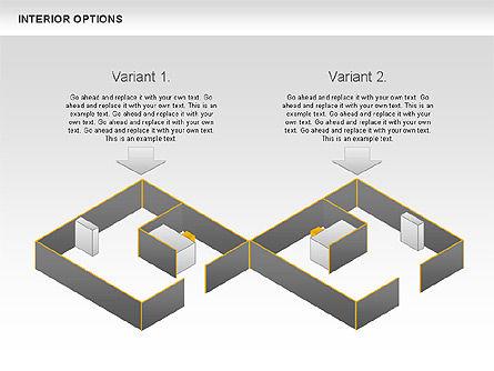 Interior Options Diagram, Slide 3, 01123, Business Models — PoweredTemplate.com