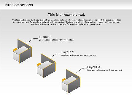 Interior Options Diagram, Slide 4, 01123, Business Models — PoweredTemplate.com