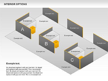Interior Options Diagram, Slide 5, 01123, Business Models — PoweredTemplate.com