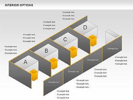 Interior Options Diagram, Slide 8, 01123, Business Models — PoweredTemplate.com