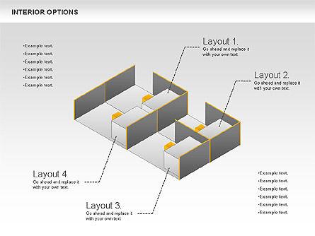 Interior Options Diagram, Slide 9, 01123, Business Models — PoweredTemplate.com