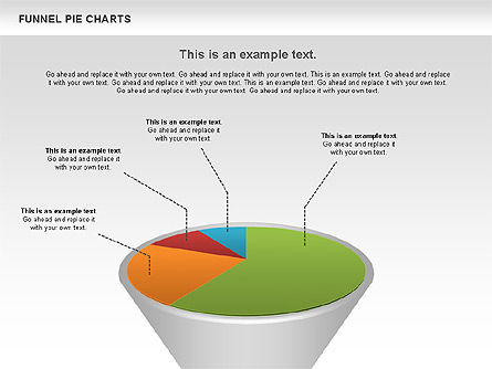 Funnel Pie Chart, Slide 4, 01125, Business Models — PoweredTemplate.com