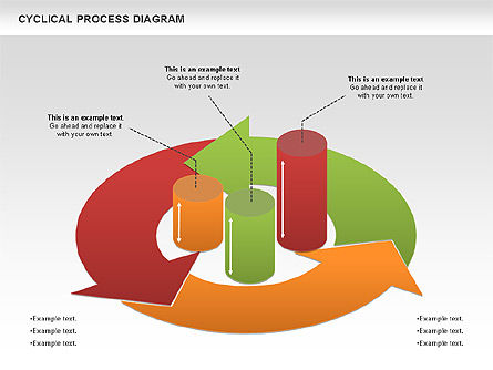 Circle Process Diagram, 01126, Process Diagrams — PoweredTemplate.com
