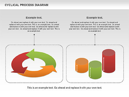 Circle Process Diagram, Slide 2, 01126, Process Diagrams — PoweredTemplate.com