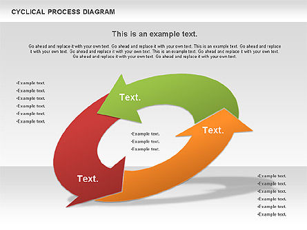 Circle Process Diagram, Slide 3, 01126, Process Diagrams — PoweredTemplate.com