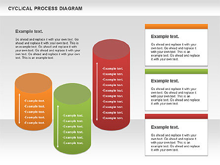 Circle Process Diagram, Slide 4, 01126, Process Diagrams — PoweredTemplate.com
