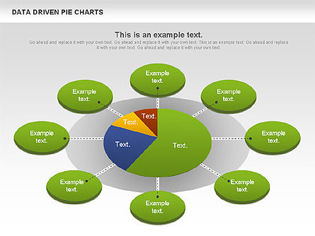 Pie Charts: Data-driven grafici a torta set #01127