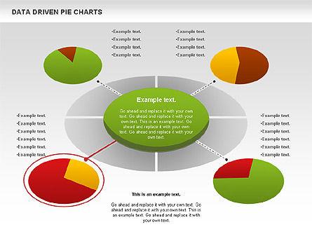Data Driven Pie Charts Set, Slide 10, 01127, Pie Charts — PoweredTemplate.com
