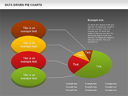 Data Driven Pie Charts Set, Slide 14, 01127, Pie Charts — PoweredTemplate.com