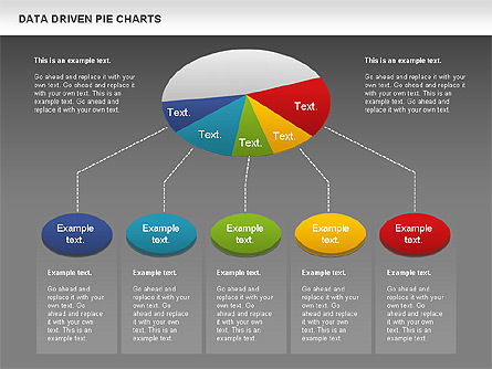 Data Driven Pie Charts Set, Slide 16, 01127, Pie Charts — PoweredTemplate.com