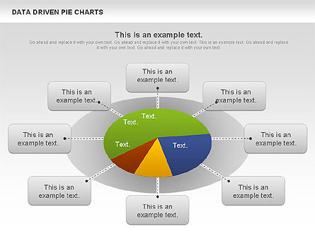 Data Driven Pie Charts Set Slide 2