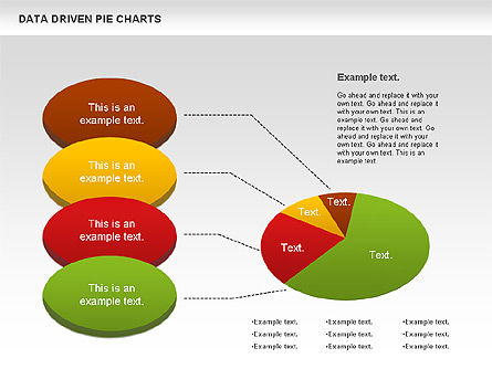 Data Driven Pie Charts Set Slide 3