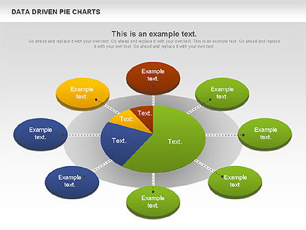 Data Driven Pie Charts Set Slide 4