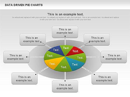 Data Driven Pie Charts Set, Slide 6, 01127, Pie Charts — PoweredTemplate.com
