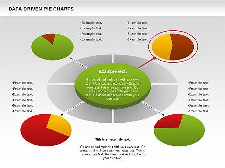 Data Driven Pie Charts Set, Slide 8, 01127, Pie Charts — PoweredTemplate.com