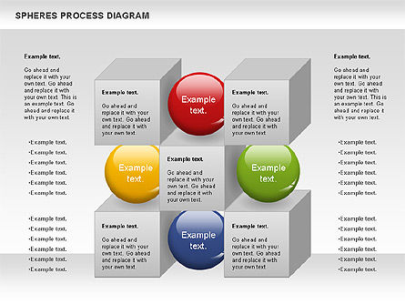 Cubes and Spheres Diagram, 01133, Stage Diagrams — PoweredTemplate.com